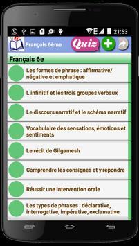 Français 6ème poster
