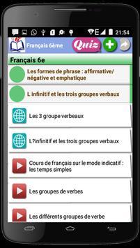 Français 6ème apk screenshot