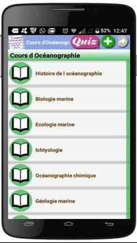 Cours d'Océanographie poster