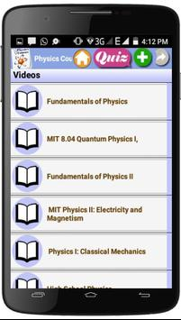 Physics Courses screenshot 2