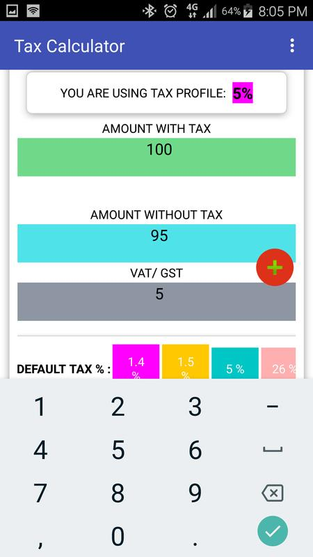 tax calculator vat gst automatic for android apk download