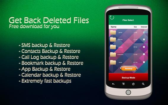 Get Back Deleted Files screenshot 2