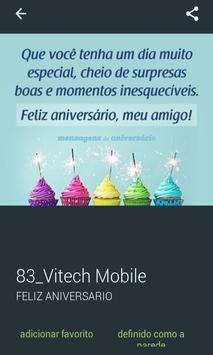 Mensagens de Feliz Aniversário screenshot 6