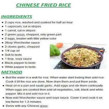 New chinese rice english recipes descarga apk gratis comer y beber new chinese rice english recipes captura de pantalla de la apk forumfinder Images