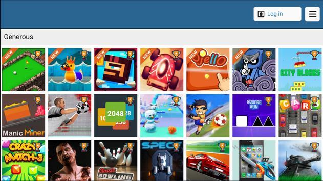 Generous Game Center screenshot 1