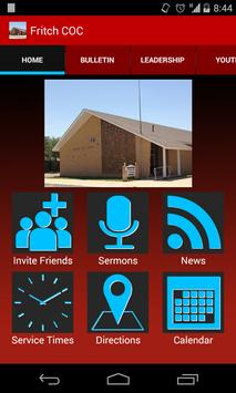 Fritch church of Christ poster