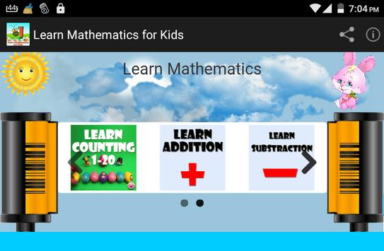 Learn Mathematics for kids poster