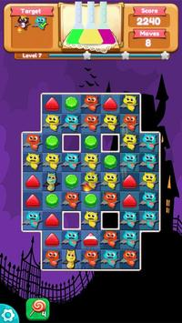 Zombie Match 3 puzzle Pro Free apk screenshot