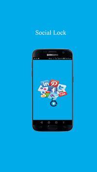 Social Lock - All Social Media apps locker poster
