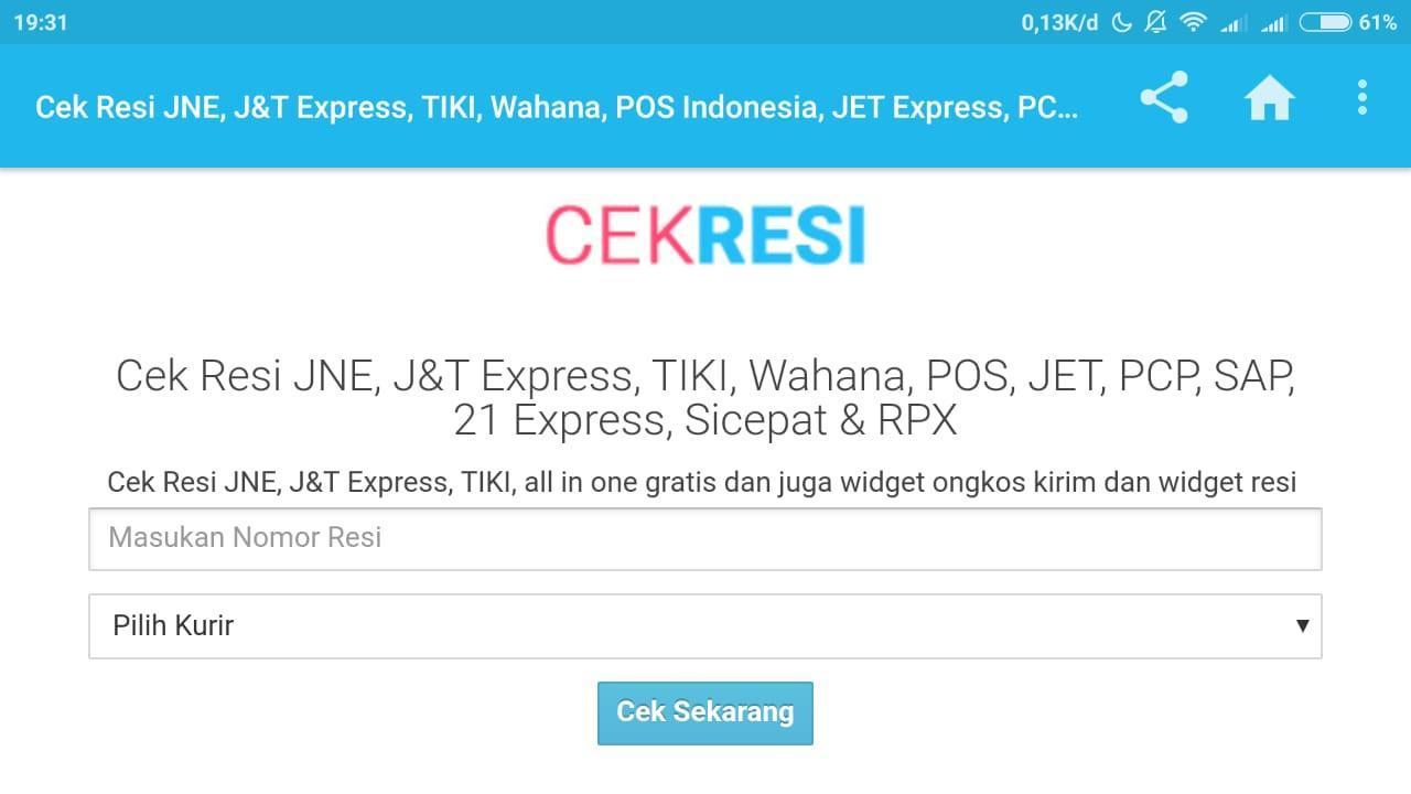 Cek Ongkir & Resi JNE JNT TIKI POS dan Lain Lain for Android - APK ...