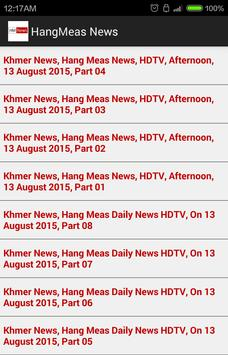 Hang Meas TV News - Khmer News poster