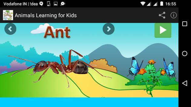 Animals Learning for Kids apk screenshot