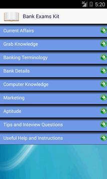 Bank Exams Kit screenshot 1