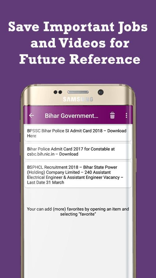 Bihar Government Jobs - Free Government Jobs Alert for Android - APK