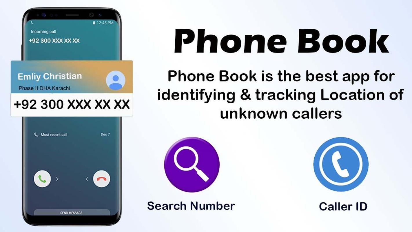 Image result for PhoneBook - Caller ID & Number Locator apk
