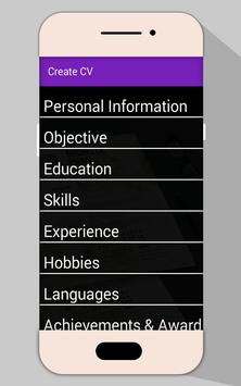 Job CV Maker PDF | Resume Builder screenshot 2