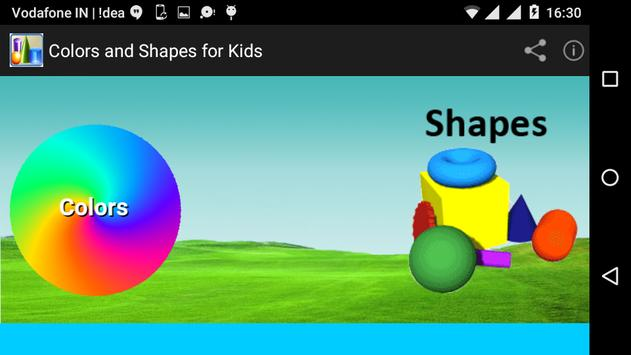 Colors and Shapes for Kids poster