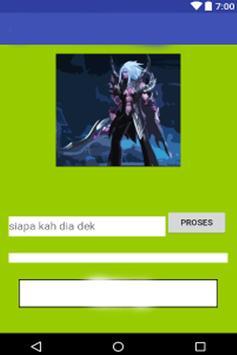 Quiz mobile legends character poster