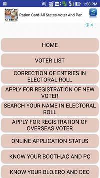 Ration Card-All States-Voter And Pan screenshot 1