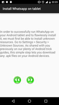 Install whatsapp on tablet apk screenshot