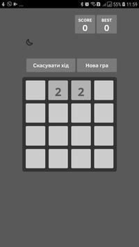 2048 Black-White poster