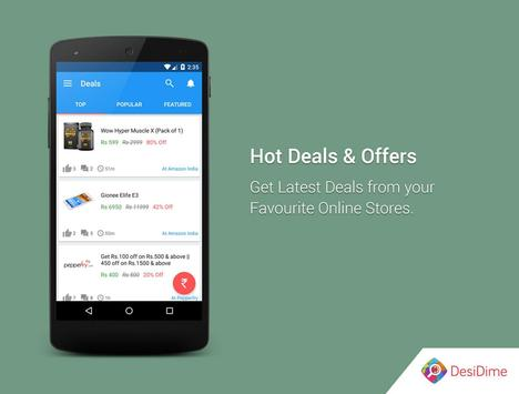 DesiDime - Online Deals & Coupons apk screenshot