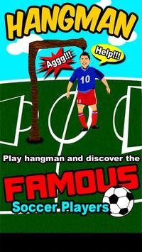 Hangman Soccer Players poster