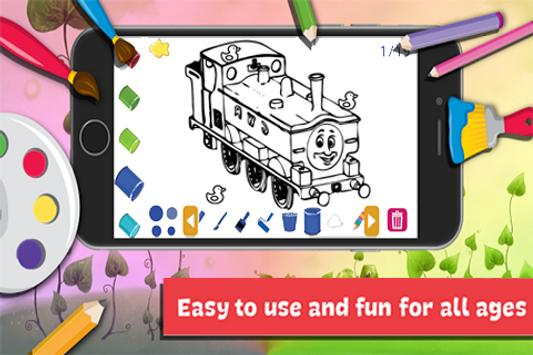 App Drawing Coloring Thomas Train Friends By Fans For Android Apk