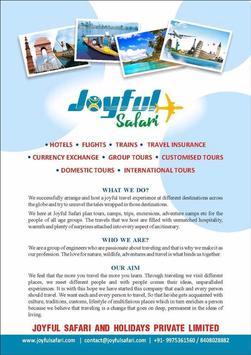 Joyful Safari and Holiday Pvt. Ltd screenshot 1