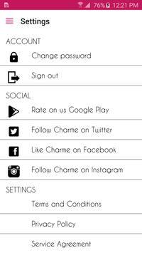 Charme apk screenshot