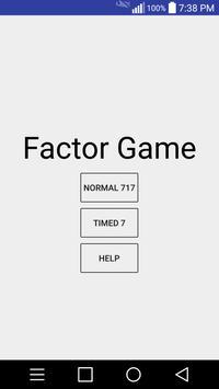 Factoring Game poster