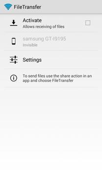 FileTransfer via WiFi screenshot 1