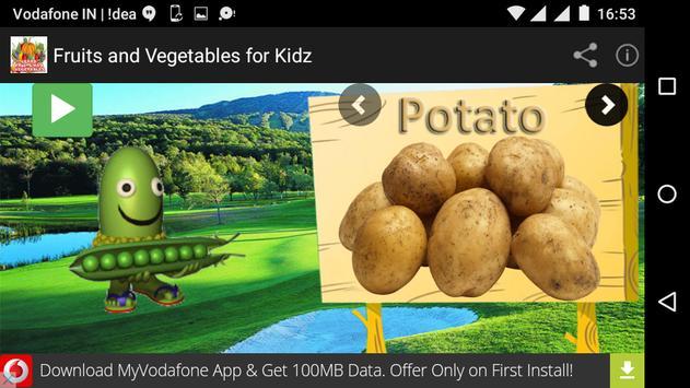Fruits and Vegetables for Kidz apk screenshot