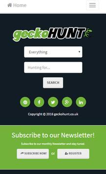 geckoHUNT - UK Shopping poster