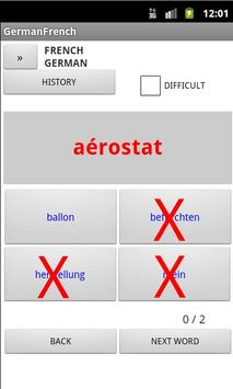 French German Dictionary apk screenshot