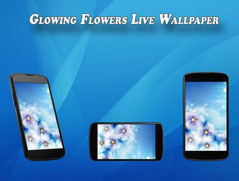 Glowing flower Live Wallpaper poster