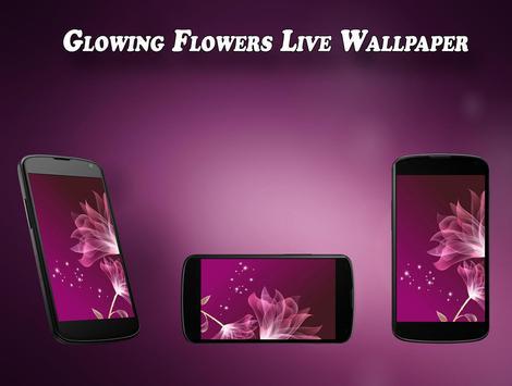 Glowing flower Live Wallpaper apk screenshot