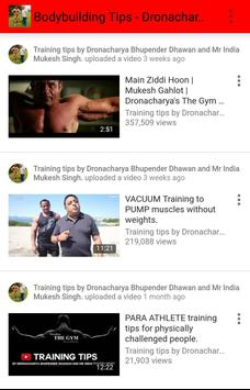 Bodybuilding Tips - Dronacharya apk screenshot