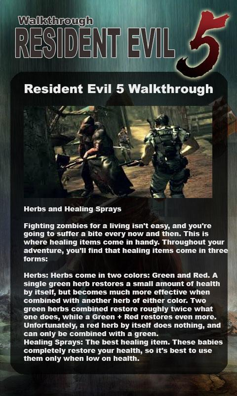 Resident Evil 5 Walkthrough for Android - APK Download