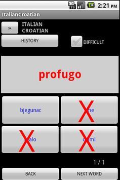 Croatian Italian Dictionary apk screenshot