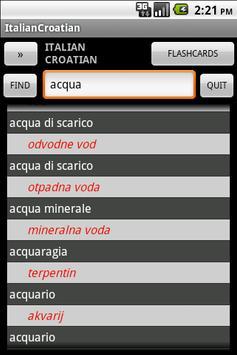 Croatian Italian Dictionary poster