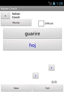 Italian Czech Dictionary apk screenshot