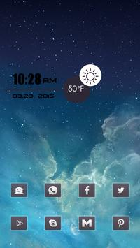 Cool Black Rectangle Icon Pack apk screenshot