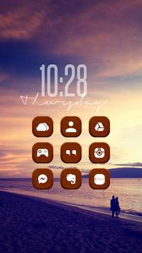 Brown Woodiness Icon Pack poster