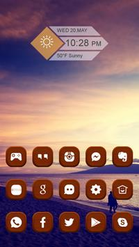 Brown Woodiness Icon Pack apk screenshot