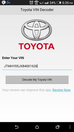 Toyota VIN Decoder APK Baixar Grátis Corporativo