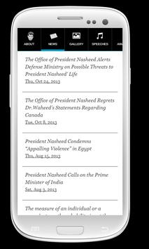 Raees Meeha: President Nasheed apk screenshot
