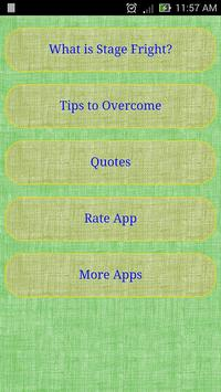 Stage Fright Tips apk screenshot