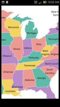 USA Capital Cities and Map apk screenshot