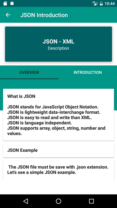 JSON - XML Tutorial for Android - APK Download